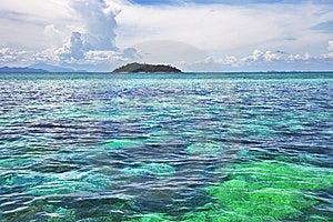 Seascape. Turquoise Water, Island Royalty Free Stock Photo - Image: 15059005