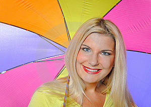 Pretty Autumn Woman Standing Under Umbrella Stock Photo - Image: 15059900