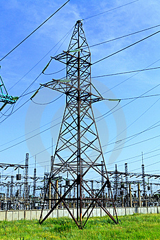 High Tension Power Line Stock Image - Image: 15061081