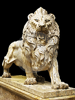 Isolated Lion Statue Stock Image - Image: 15061761
