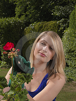 Attractive Young Woman Gardener Royalty Free Stock Images - Image: 15064089