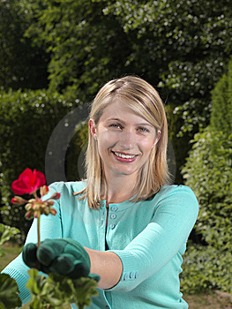 Attractive Young Woman Gardener Royalty Free Stock Photography - Image: 15064227