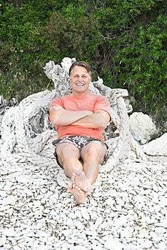 Happy Man On The Beach Stock Photos - Image: 15064413