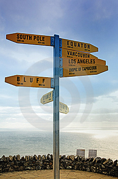 Directional Signpost Stock Image - Image: 15064911