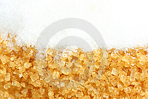 Crystalline Sugar And Granulated Sugar Royalty Free Stock Image - Image: 15065706
