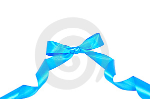 Blue Bow Royalty Free Stock Photos - Image: 15066868