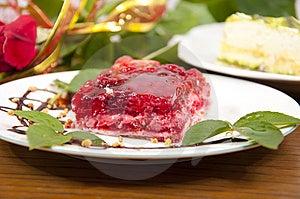 Sweet Raspberry And Strawberries Dessert Stock Photos - Image: 15067023