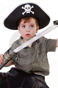 Young Boy Dressed As A Pirate. Stock Images - Image: 15067304