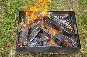 Preparing Barbecue Fire Royalty Free Stock Photo - Image: 15067725