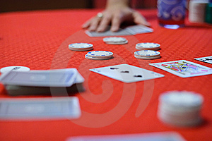 Poker Game Is Begining Royalty Free Stock Photography - Image: 15067767