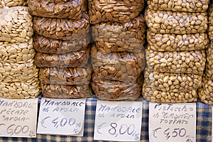 Almonds And Pistachios Royalty Free Stock Photos - Image: 15067988
