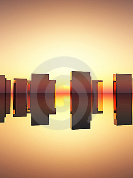 Abstract Rectangle Sunset Royalty Free Stock Photos - Image: 15068188