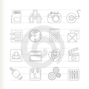 Phone Performance, Internet And Office Icons Stock Photography - Image: 15068442