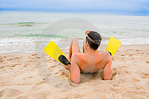 Beach Flippers Stock Photos - Image: 15070593