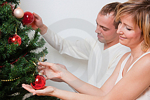 Trim Decorate Christmas Tree Royalty Free Stock Photo - Image: 15070655