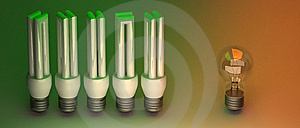Economic Light Bulbs Stock Image - Image: 15072221