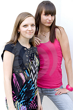 Two Female Friends Royalty Free Stock Photo - Image: 15074445