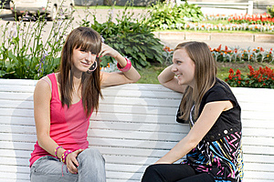 Two Female Friends Royalty Free Stock Photography - Image: 15074597