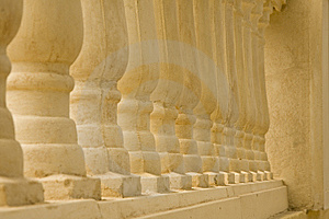 Row Of Pillars Stock Image - Image: 15074621