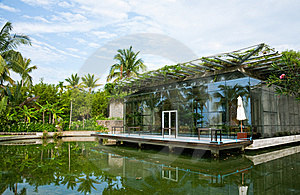 Landscape Of Tropical Resort Royalty Free Stock Photography - Image: 15074687
