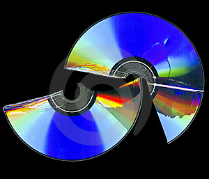 Broken Cd Rom Scan Royalty Free Stock Photo - Image: 15074695