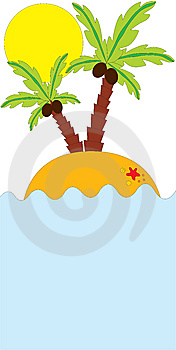 Tropical Palm On Island In Ocean Stock Photo - Image: 15075540