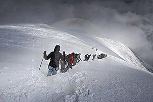 Extremal Mountain Tourism Stock Photo - Image: 15076590