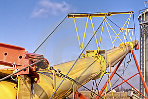 Yellow Grain Auger Royalty Free Stock Photography - Image: 15079967