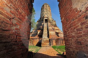 Wat Chaiwattanaram In Old Siam Kingdom Capi Stock Image - Image: 15080271