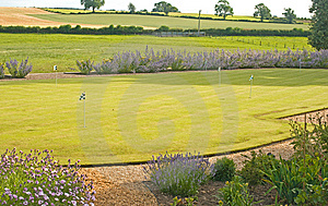 Putting Green In A Garden. Stock Photos - Image: 15080703