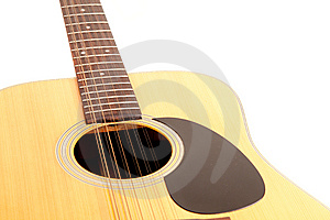 A 12 String Acoustic Guitar On A White Background Stock Photos - Image: 15081973