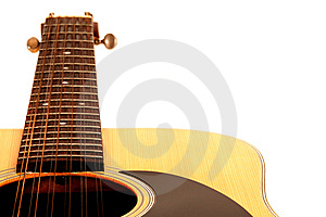 A 12 String Acoustic Guitar On A White Background Stock Image - Image: 15081991