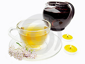 Floral Tea With Medical Flowers Royalty Free Stock Photos - Image: 15082608