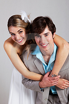 Smiling Young Couple Embracing Royalty Free Stock Images - Image: 15082609