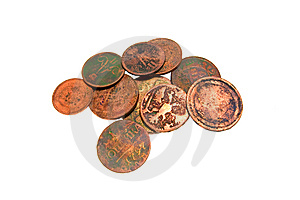 Few Ancient Coins Royalty Free Stock Photos - Image: 15082658