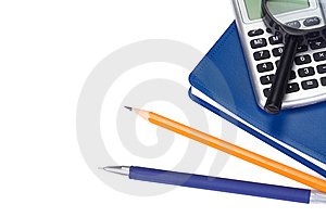School Accessory On White Stock Photo - Image: 15083070