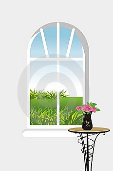 Kind From A Window Royalty Free Stock Images - Image: 15085499