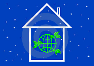 Eco House Metaphor. Royalty Free Stock Photo - Image: 15086625