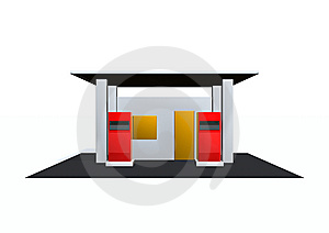 Gas Station Royalty Free Stock Photos - Image: 15086818