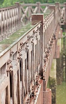 Rainy Day And Wooden Bridge Royalty Free Stock Photos - Image: 15087158