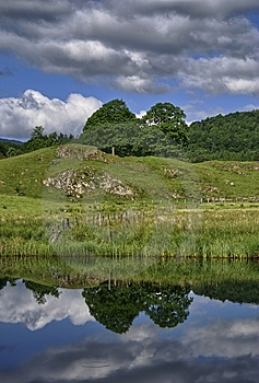 Tree Reflections In The River Brathay Royalty Free Stock Photos - Image: 15087938