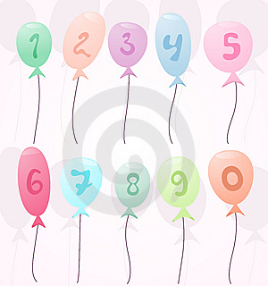 Balloons With Numbers Stock Photo - Image: 15088470