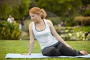 Yoga Pose Royalty Free Stock Image - Image: 15089236