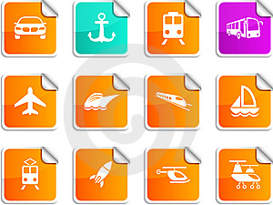 Transport Stickers. Stock Photo - Image: 15090590