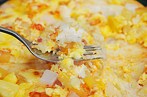 The Fork And Fruit Pizza Stock Images - Image: 15090744