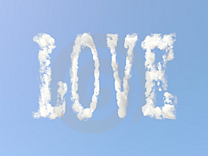 Love Sign From Clouds Royalty Free Stock Photography - Image: 15091097