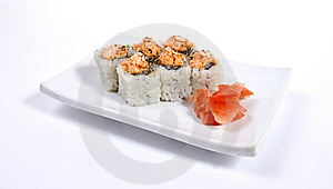 Rolled And Sushi Stock Photo - Image: 15091700