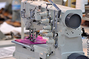 Small Multifunctional Sewing Machine Royalty Free Stock Photos - Image: 15092188
