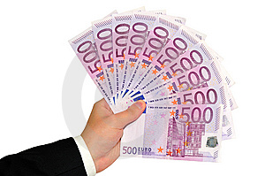 Hand With Euro Banknotes Stock Images - Image: 15094204