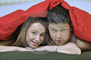 Young Couple In Bed Royalty Free Stock Photography - Image: 15097787